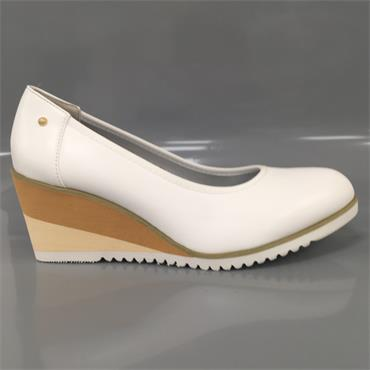 ZANNI FULFORD WEDGE SHOE-White
