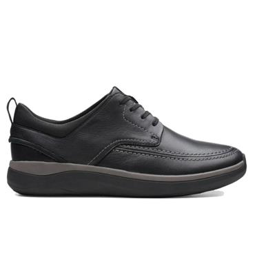 Clarks Garratt Street-Black Leather
