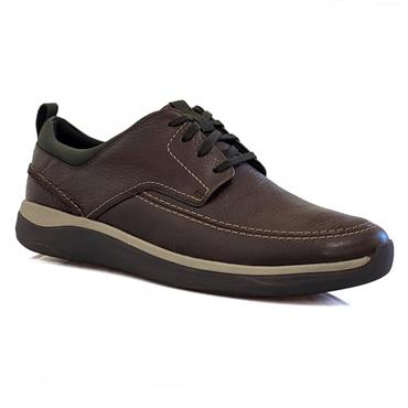 Clarks Garratt Street-Mahogany Leather
