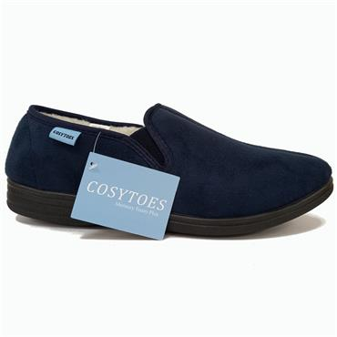 Mens Cosytoes George Slipper-Navy