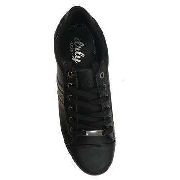 Drilleys Glitter Casual Shoe-BLACK