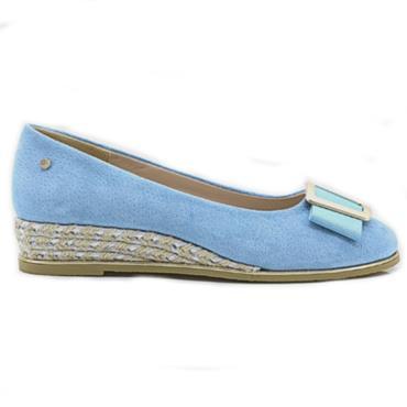 Kate Appleby Gorda Wedge Shoe-BLUE