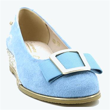 Kate Appleby Gorda Wedge Shoe-BLUE