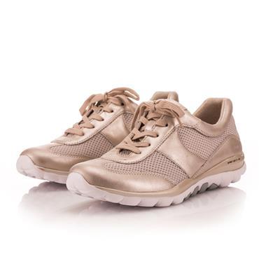 Gabor Helen Lace Shoe-BEIGE
