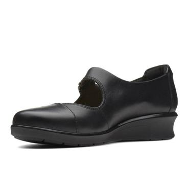 - Clarks Hope Henley - Black Leather