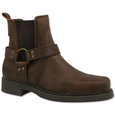 Wrangler Inver Pull On Strap  Boot-BROWN