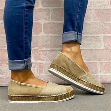 Softmode Jasmine Casual Shoe-BEIGE