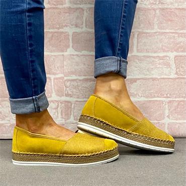 Softmode Jasmine Casual Shoe-YELLOW