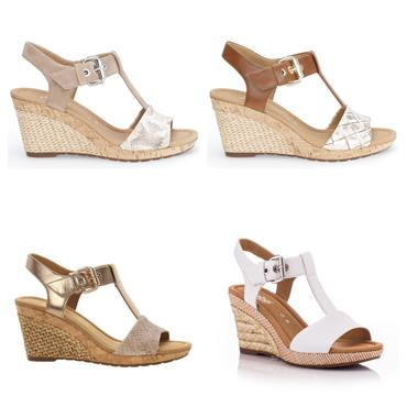 GABOR KAREN WEDGE SANDAL-White