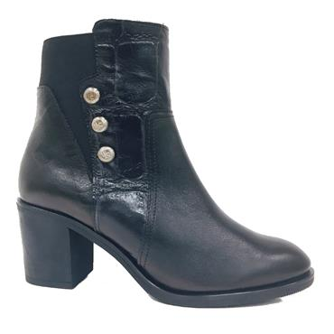 Jose Saenz Lady 6006-L-K Ankle Boot-BLACK