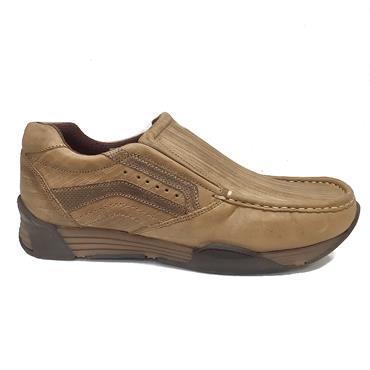 Wrangler Lavey Semi Scratch Slip On Shoe-TAN