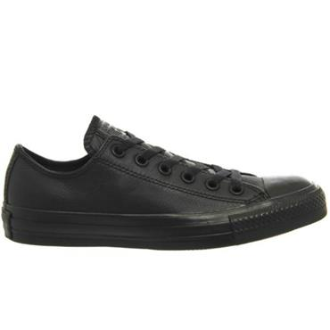 - LEATHER CONVERSE - BLACK