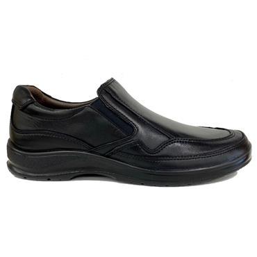 Softmode Leon Slip On Shoe-BLACK