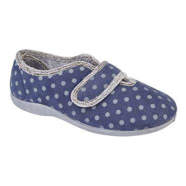 Ladies LS373C Velcro Slipper-BLUE