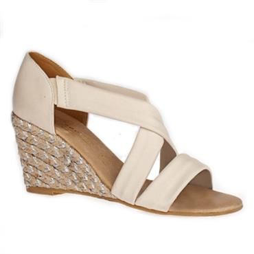 Kate Appleby Millbank Wedge Sandal-CREAM