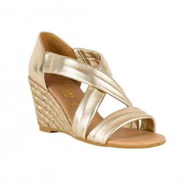 Kate Appleby Millbank Wedge Sandal-GOLD