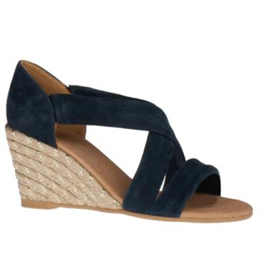 Kate Appleby Millbank Wedge Sandal-Navy