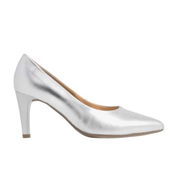 Gabor Mimi 41.380.59 Ladies Heel Shoe-Silver
