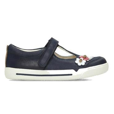 Clarks Mini Blossom-Blue Leather