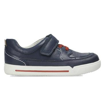 Clarks Mini Oasis-Navy Leather