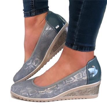 Zanni Nabata Wedge Shoe-AQUA