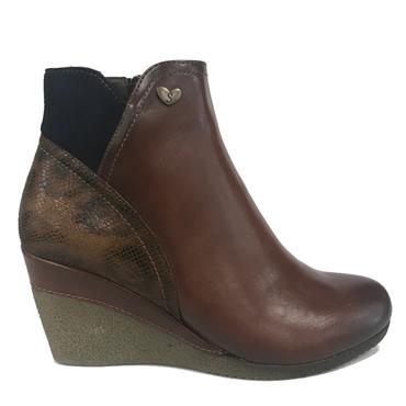 SUSST NADINE21 ANKLE BOOTS-BROWN