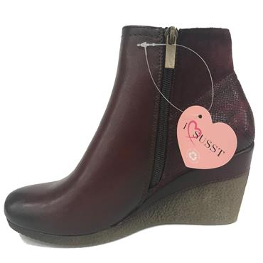 SUSST NADINE21 ANKLE BOOTS-MULBERRY