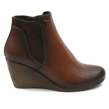 Susst Nadine Wedge Boot-TAN