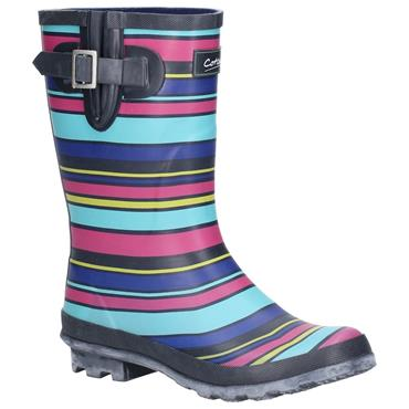 Ladies Cotswold Paxford Wellie-Stripe