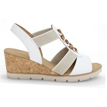 - Gabor Popsie 45.750 Wedge Sandal - White Combi