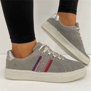 Redz Pride Casual Shoe-Grey