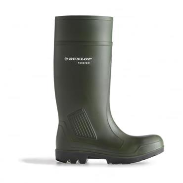Dunlop Purofort Wellingtons-GREEN