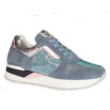 Una Healy Roses Casual Shoe-BLUE