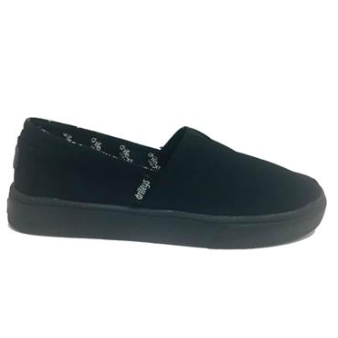 Drilleys Seabright Canvas Shoe-BLACK