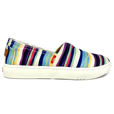 Drilleys Seabright Canvas Shoe-Blue Mix