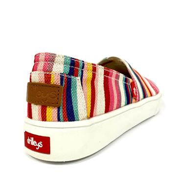 Drilleys Seabright Canvas Shoe-Red Mix