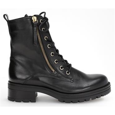 Gabor Serve 72.785  Zip Lace Ankle Boot-BLACK