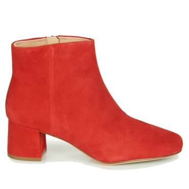 Clarks Sheer Flora-Red Suede