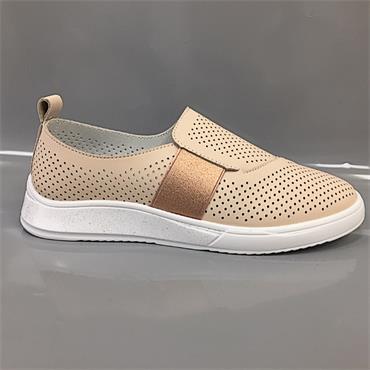 Drilleys Sieve Casual Shoe-CREAM