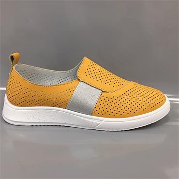 Drilleys Sieve Casual Shoe-Mustard