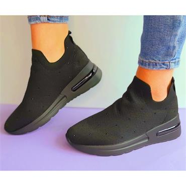 Una Healy Southside Casual Shoe-BLACK
