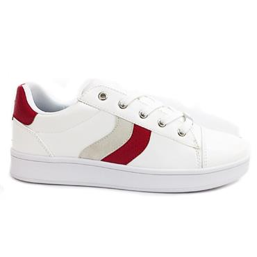 Drilleys Split Casual Shoe-White