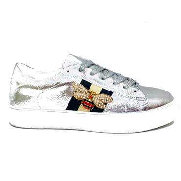 Redz Stride Casual Shoe-Silver