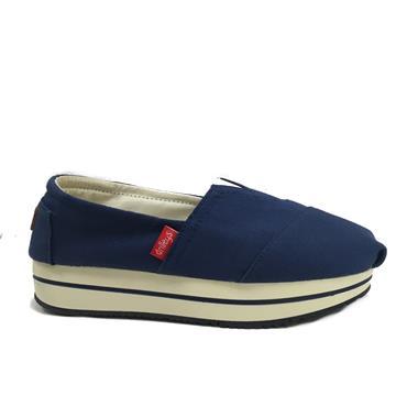 Drilleys Sunshine Canvas Shoe-Navy