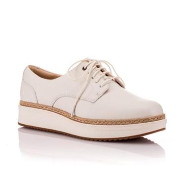- Clarks Teadale Rhea - White Leather