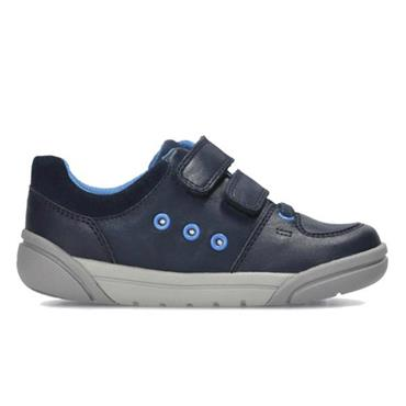 Clarks Tolby Buzz-Navy Leather