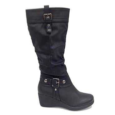 LONG BOOT-BLACK