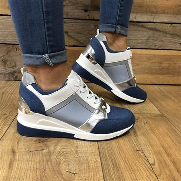 TOMMY BOWE TOUHEY CASUAL WEDGE-DENIM
