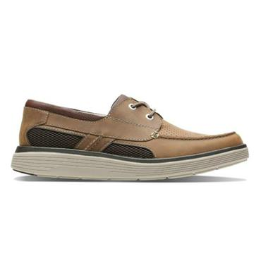 Clarks Un Abode Step-Dark Tan Lea