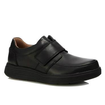 Clarks Un Abode Strap-Black Leather